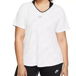 Nike Plus Size White Air Running Top 1x
